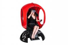 Капсула шар аттракцион в торговом центре с очками виртуальной реальности