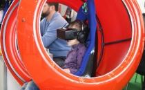 Бизнес аттракцион виртуальной реальности красный шар с джойстиком