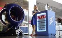 VR Oculus FutuRift с джойстиком катаясь на драконе синяя капсула