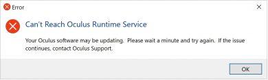 Oculus Runtime Service