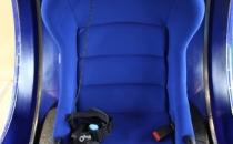 вид кабины FutuRift с креслом и очками Oculus Rift